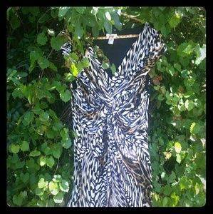 CHICOS Animal Print dress- Size 3 Barely Worn !